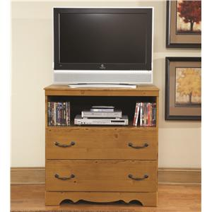 Media Chest with Curved Base Trim