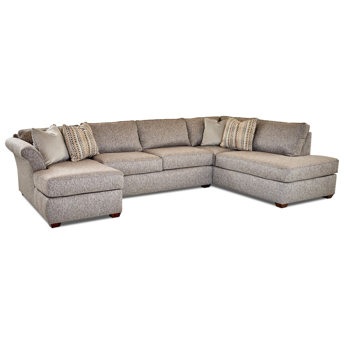 Jaxon 3 Pc Sectional Sofa by Klaussner at Johnny Janosik