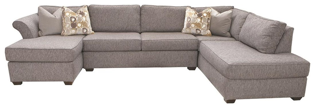 Jaxon 3 Pc Sectional Sofa by Klaussner at Darvin Furniture