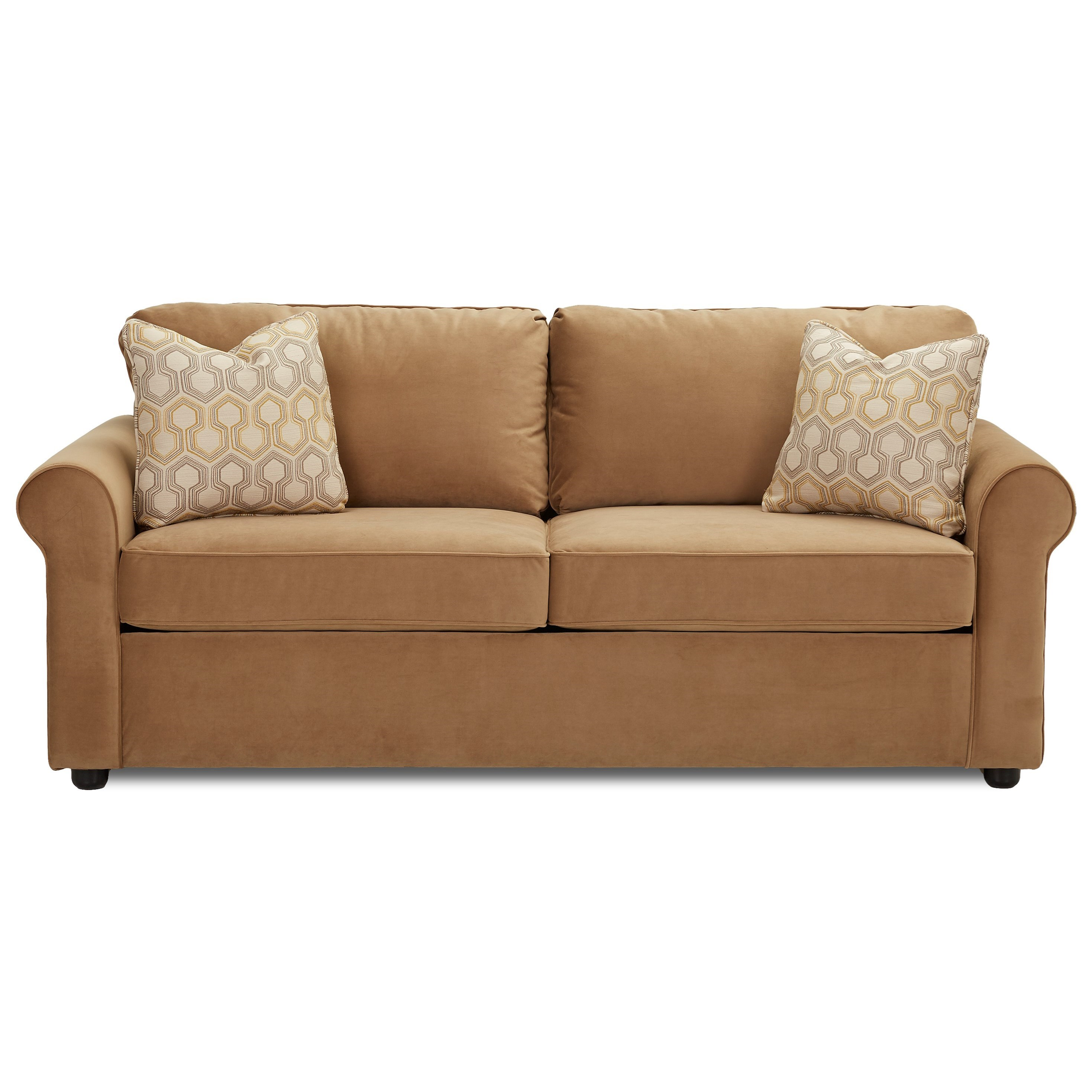 Brighton Enso Memory Foam Queen Sleeper by Klaussner at Lagniappe Home Store