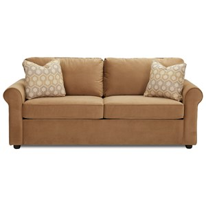 Dreamquest Queen Sleeper Sofa with Rolled Arms
