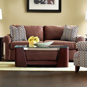 Innerspring Queen Sleeper Sofa with Rolled Arms