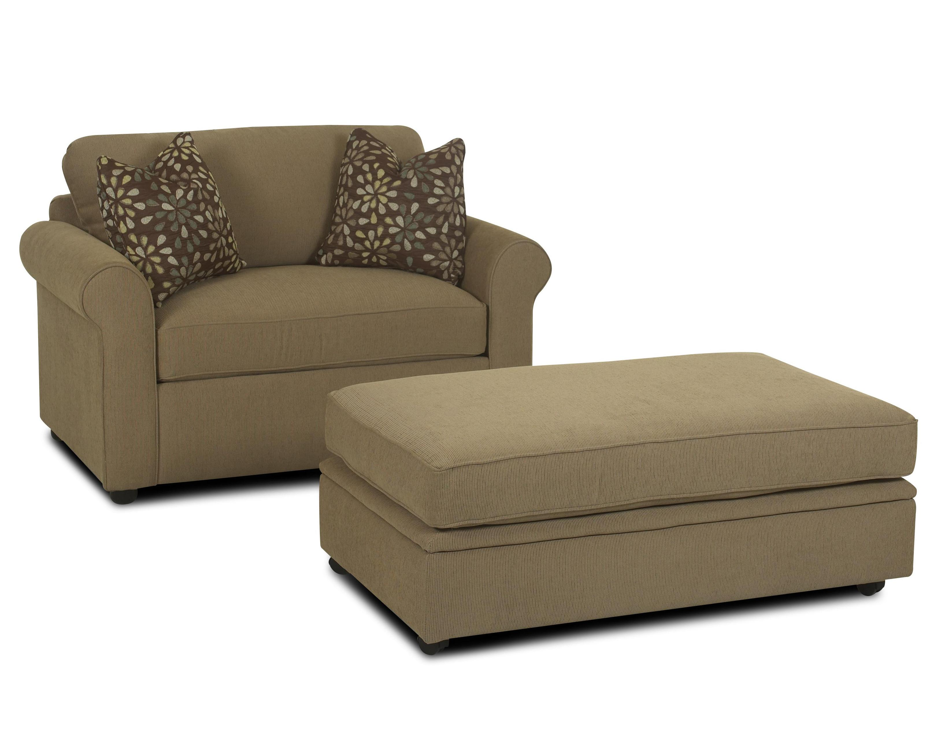 Brighton Royal Chair Sleeper & Storage Ottoman by Klaussner at Godby Home Furnishings
