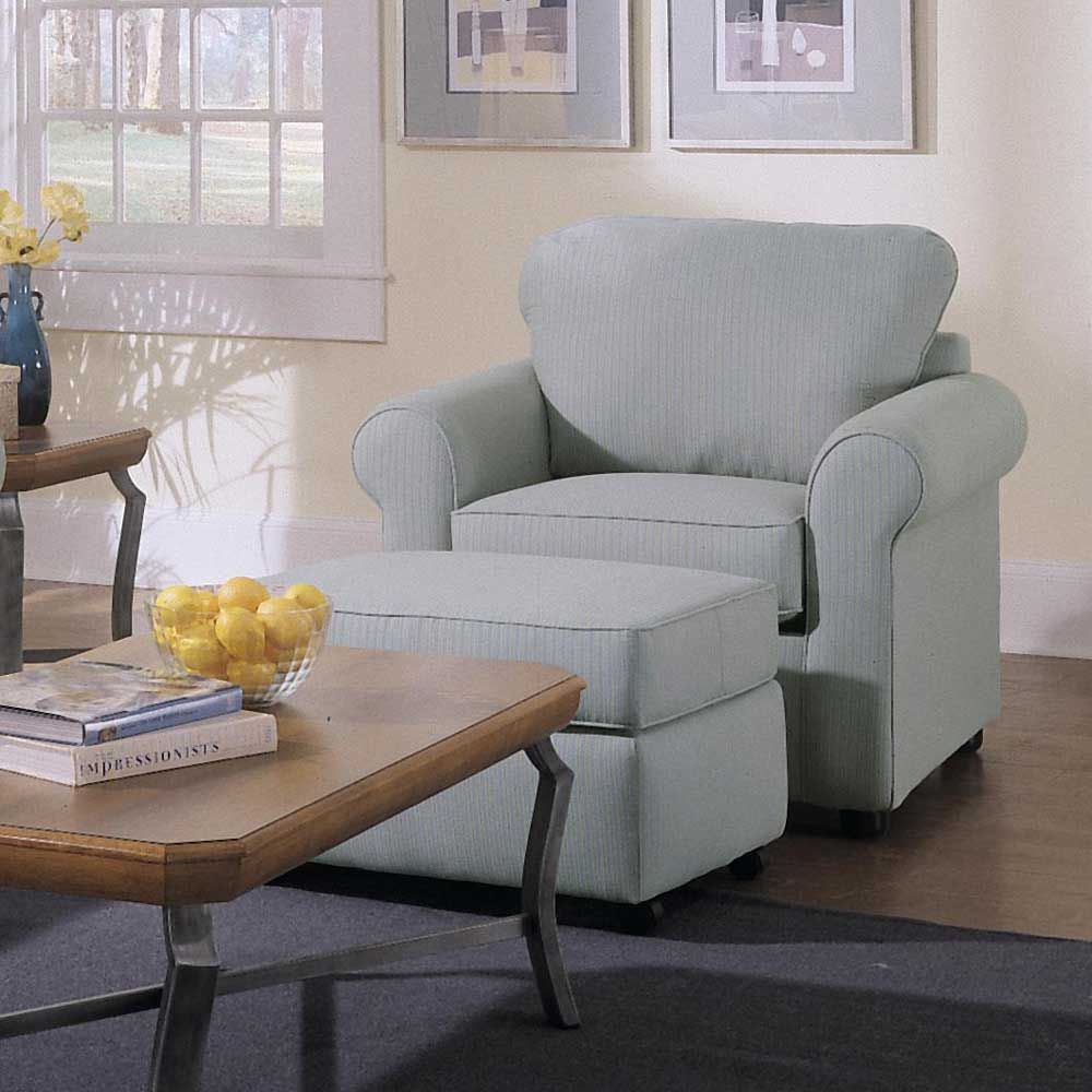 Brighton Chair and Ottoman by Klaussner at Catalog Outlet