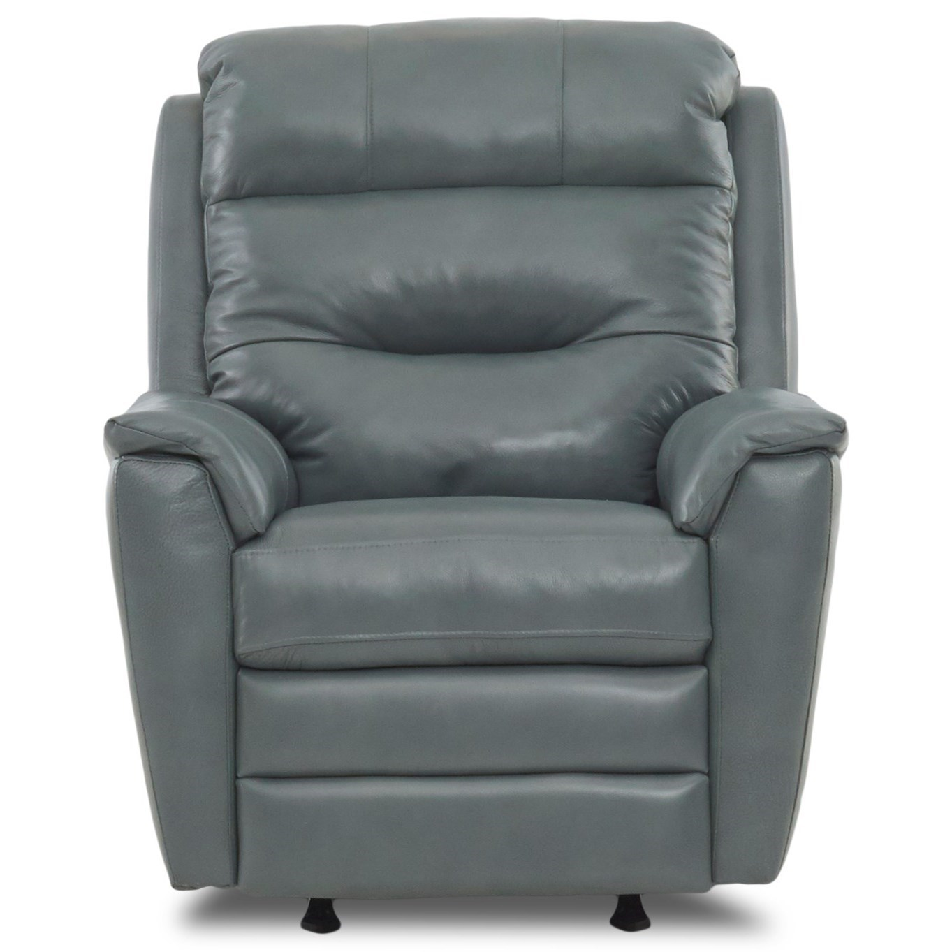 Nola Pwr Rocking Recliner w/ Pwr Head and Lumbar by Klaussner at Catalog Outlet