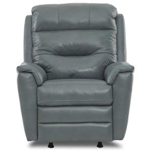 Casual Power Rocking Recliner with Power Headrest/Lumbar and USB Port
