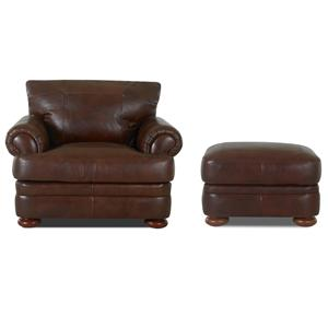 Klaussner Montezuma Chair and Ottoman