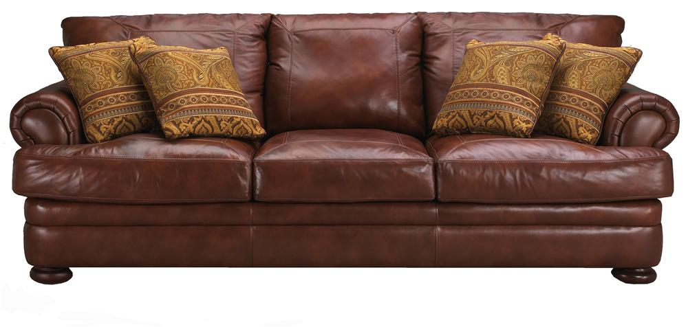 Montezuma Leather Sofa by Klaussner at Lagniappe Home Store