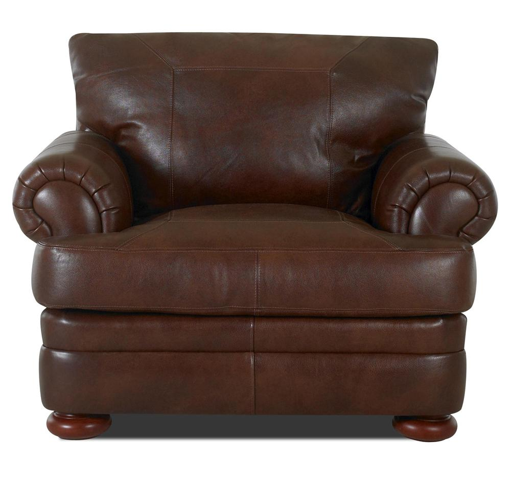 Montezuma Leather Chair by Klaussner at Value City Furniture