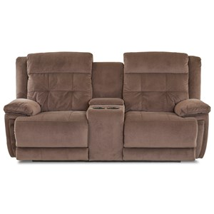 Casual Power Reclining Console Loveseat with Power Headrest/Lumbar and USB Port