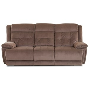 Casual Power Reclining Sofa with Power Headrest/Lumbar and USB Port