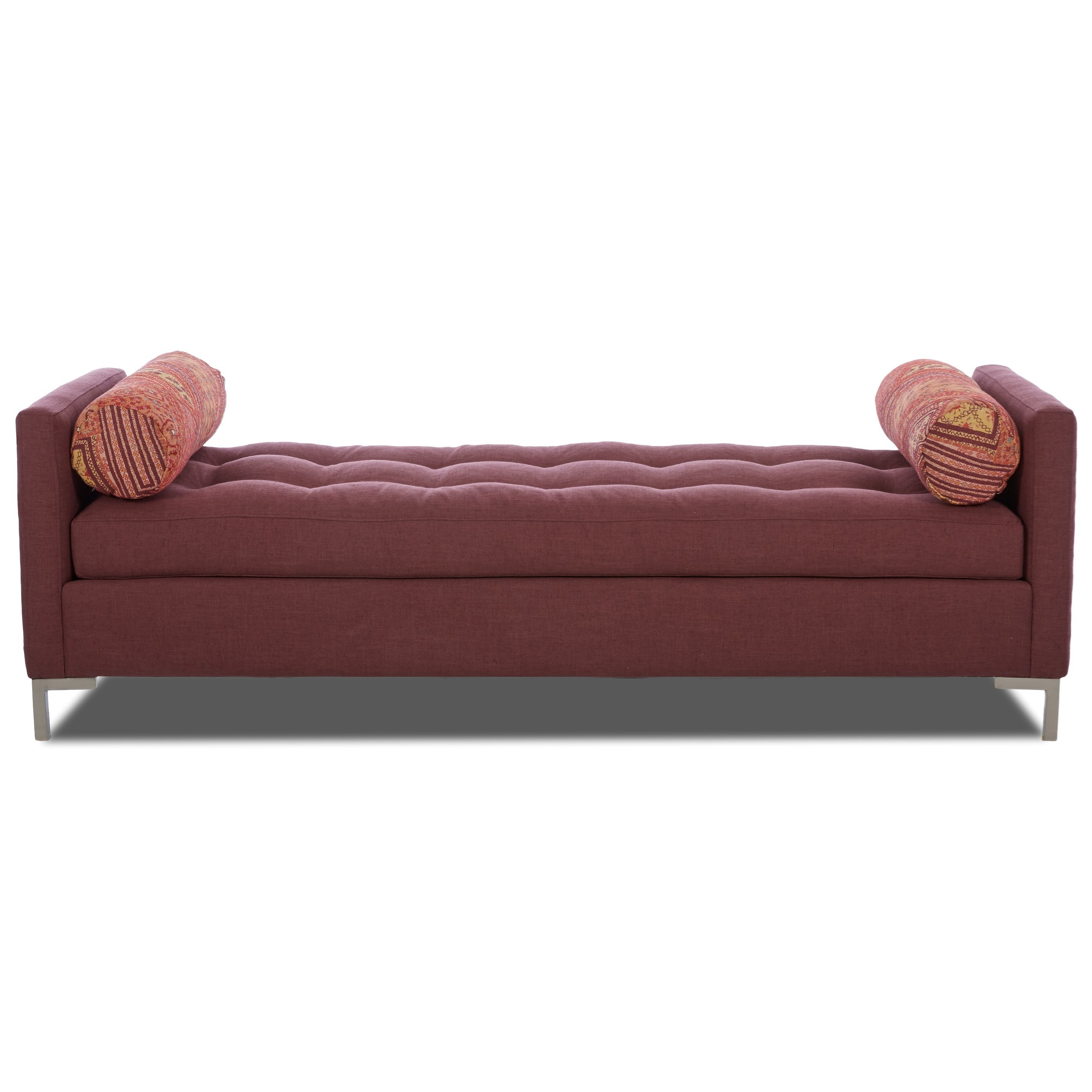 Uptown Klaussner Contemporary Bench by Klaussner at Lapeer Furniture & Mattress Center