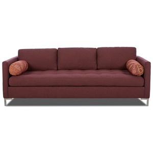 Klaussner Tufted Seat Contemporary Sofa