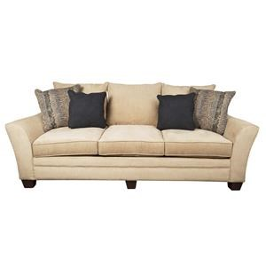 Modern Sofa with Accent Pillows