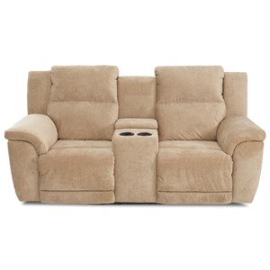 Power Reclining Console Loveseat with Power Headrests and USB Ports