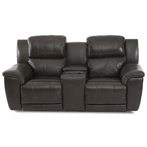 Power Reclining Console Loveseat with Power Headrests & Lumbar and USB Ports
