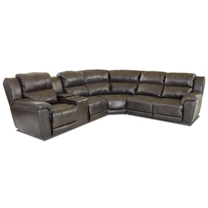 Three Piece Power Reclining Sectional Sofa with Power Headrests & Lumbar and USB Ports