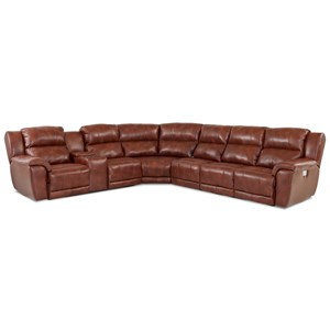 Four Piece Power Reclining Sectional Sofa with Power Headrests & Lumbar and USB Ports