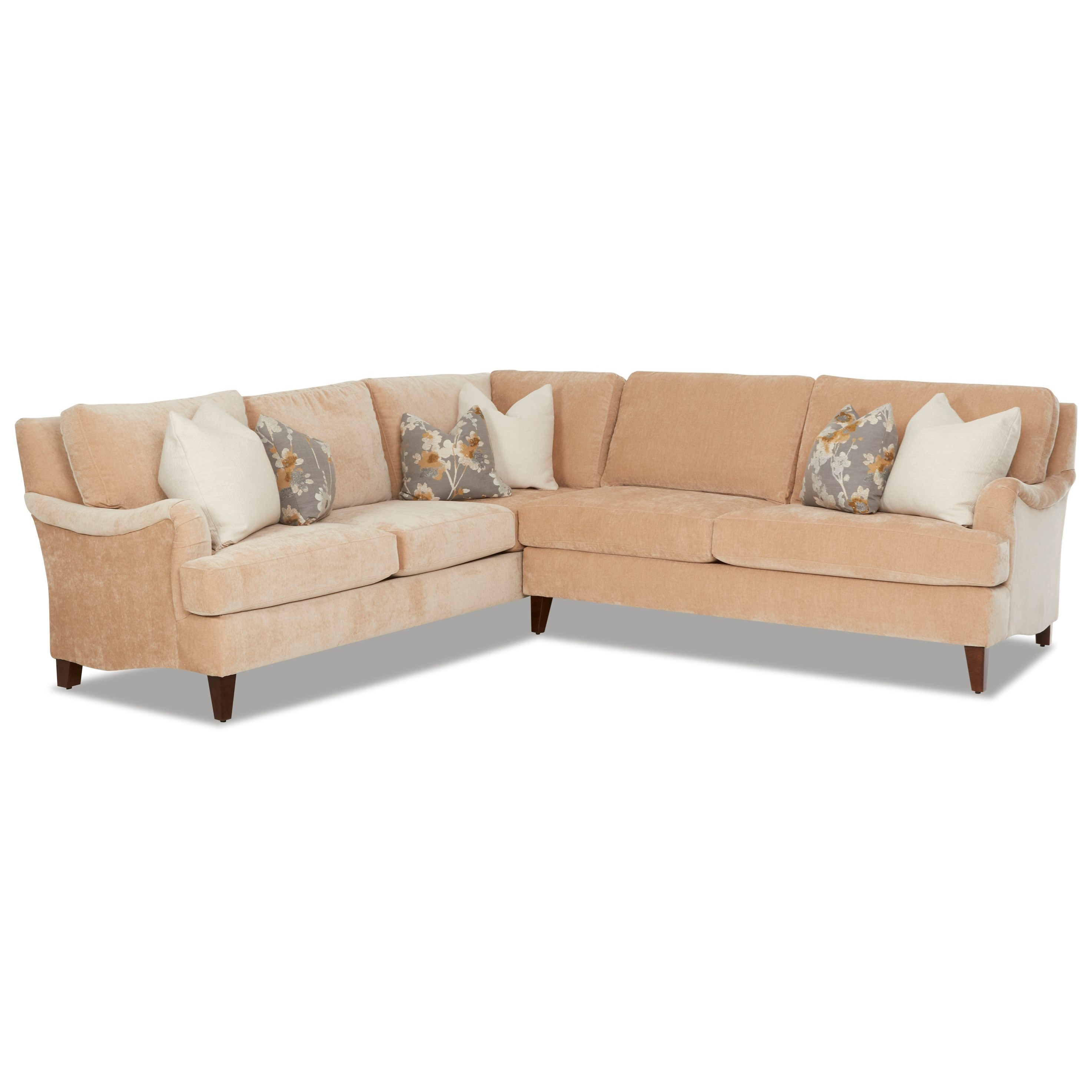 Alden 2-Piece Sectional by Klaussner at Catalog Outlet
