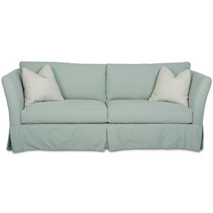 Traditional Stationary Sofa with Slipcover