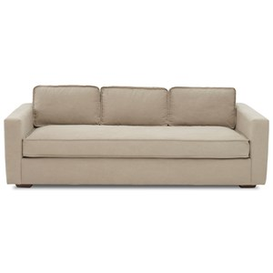 Contemporary Sofa with Low Profile Back