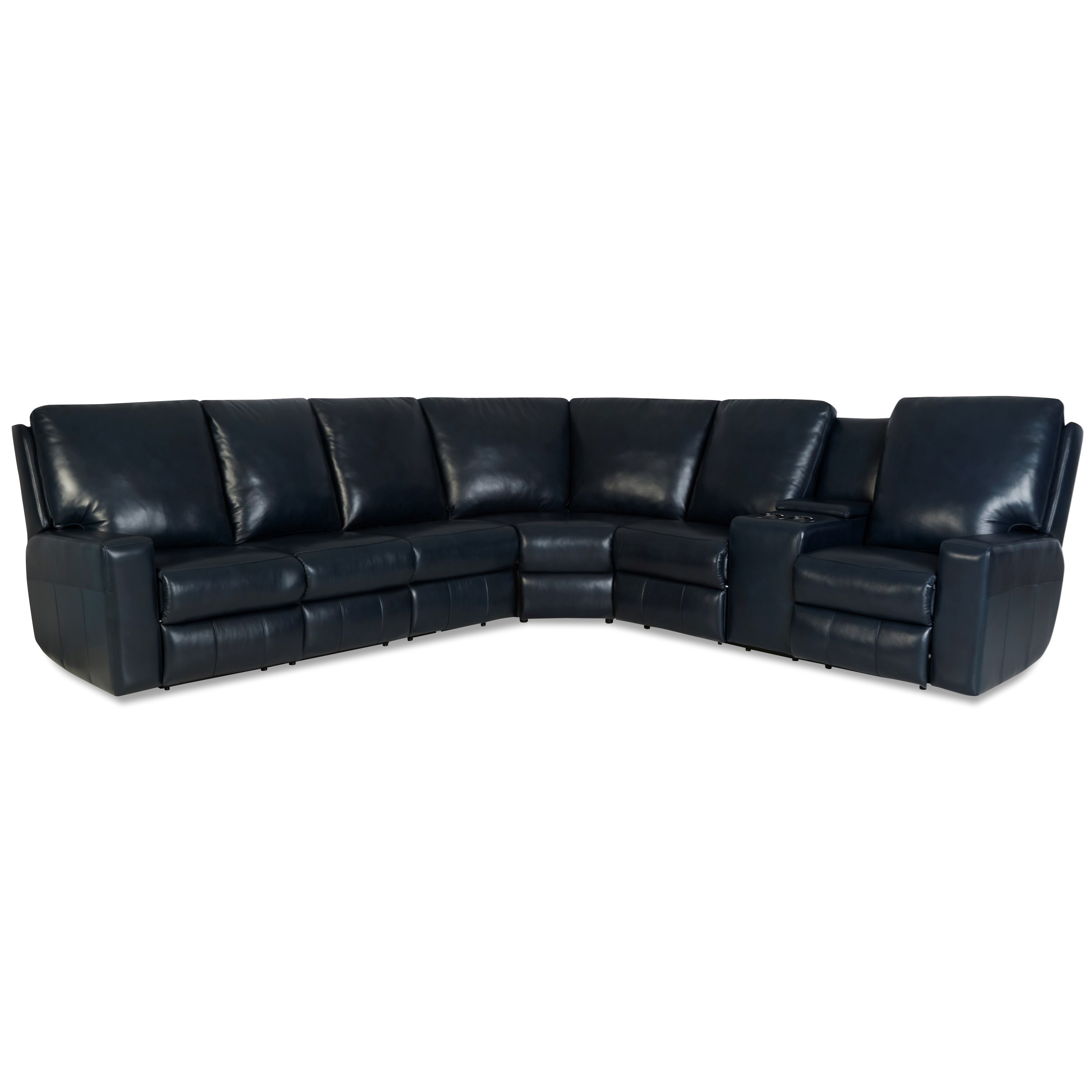 Alliser Power Reclining Sectional w/ Pwr Headrests by Klaussner at Van Hill Furniture
