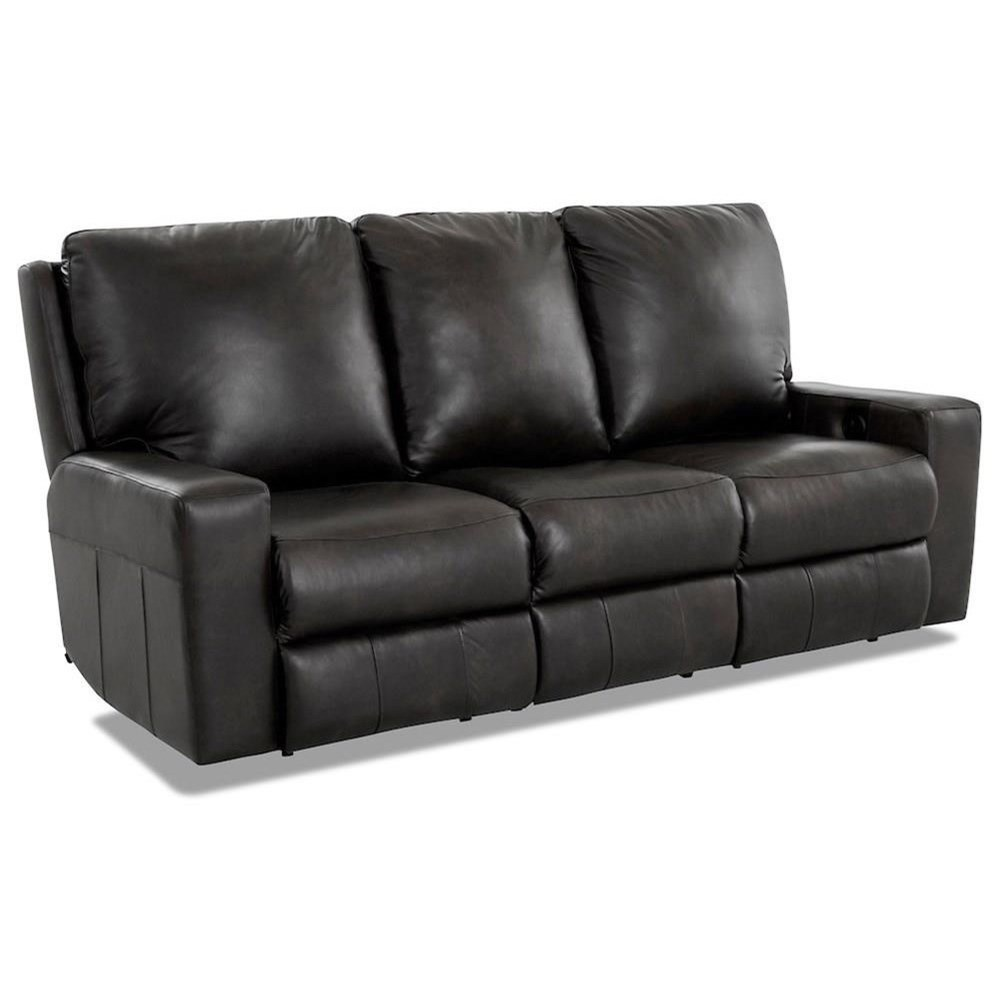 Alliser Power Reclining Sofa w/ Pwr Headrests & XMS by Klaussner at Catalog Outlet