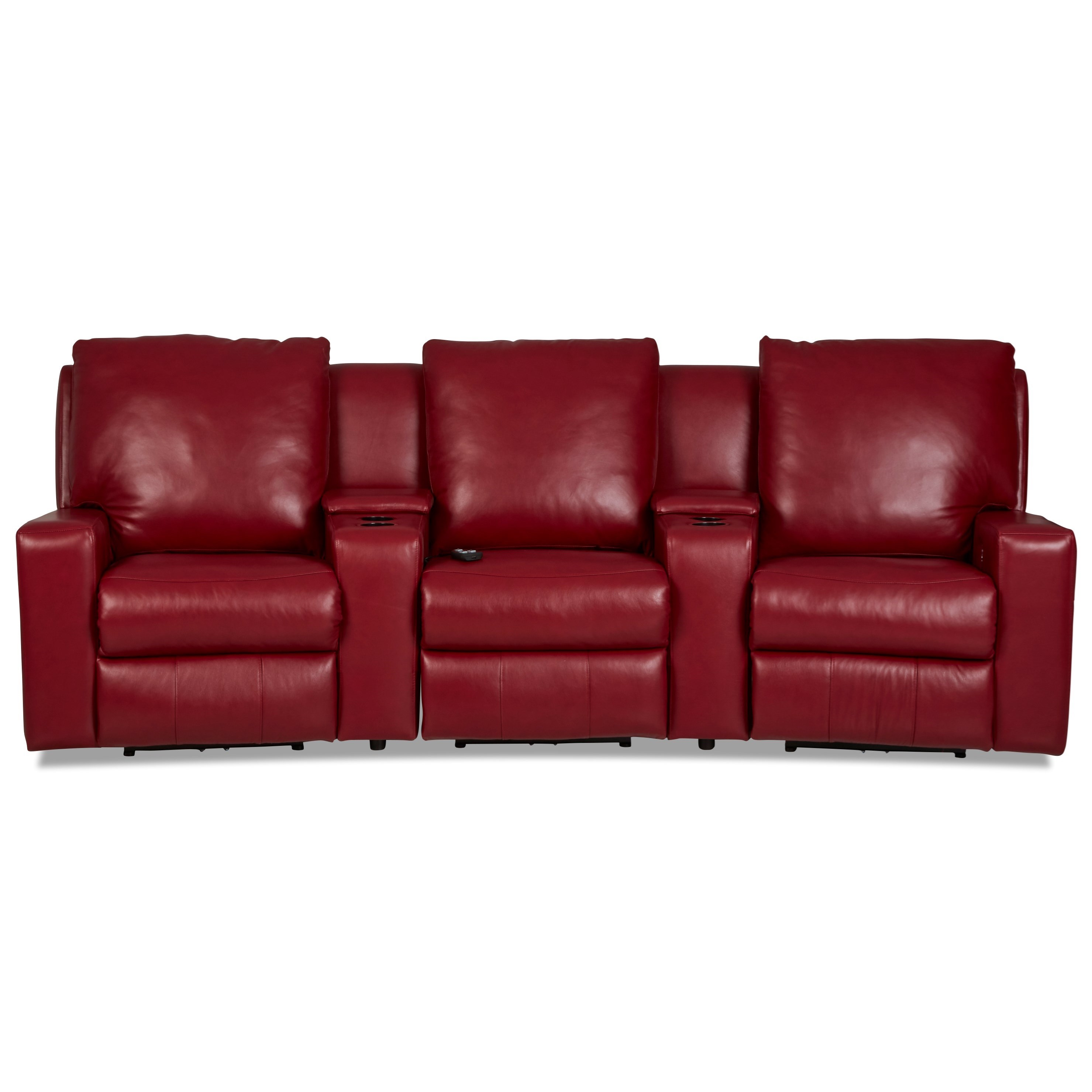 Alliser 3-Seat Theater Seating Group by Klaussner at Catalog Outlet