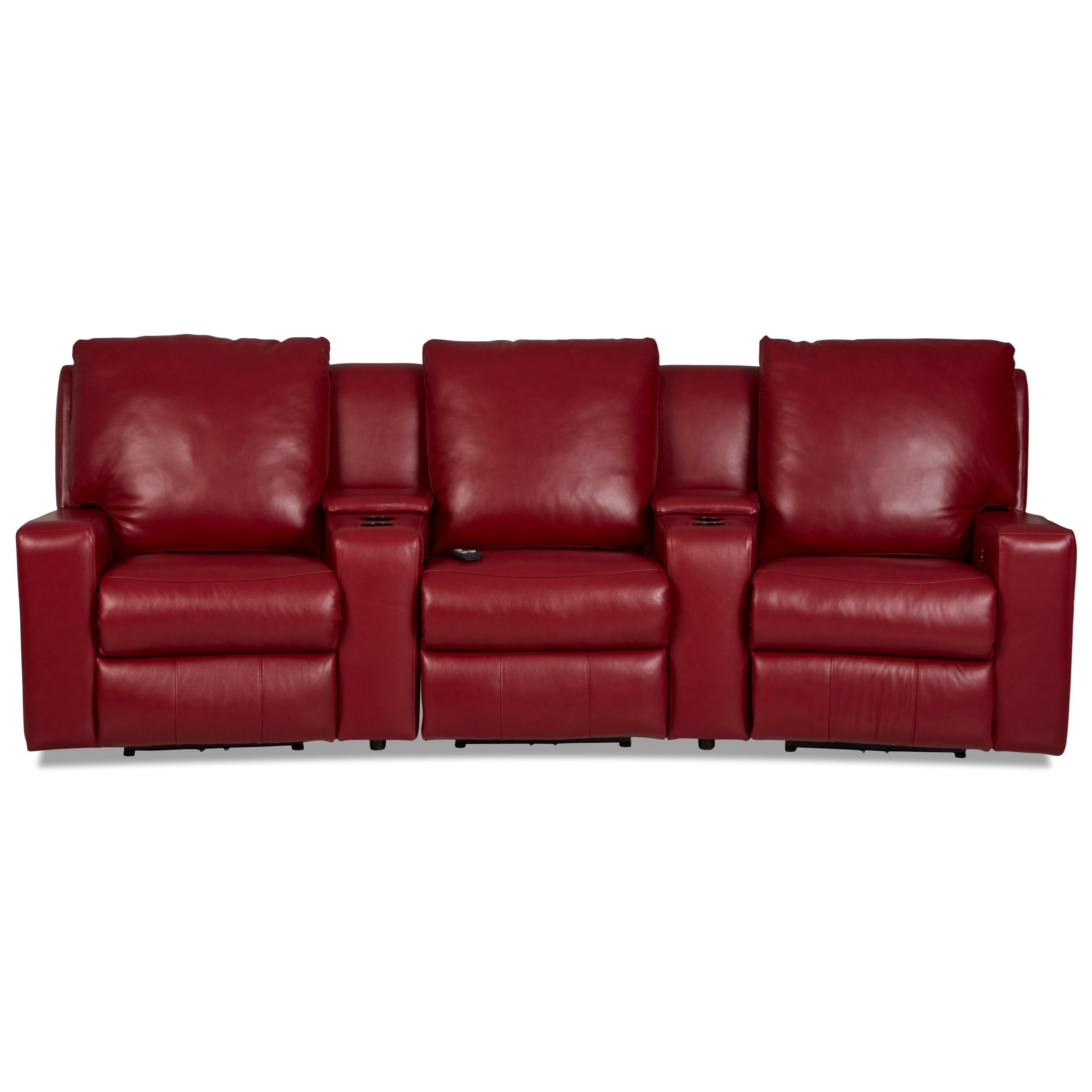 Alliser 3-Seat Theater Seating Group by Klaussner at Pilgrim Furniture City