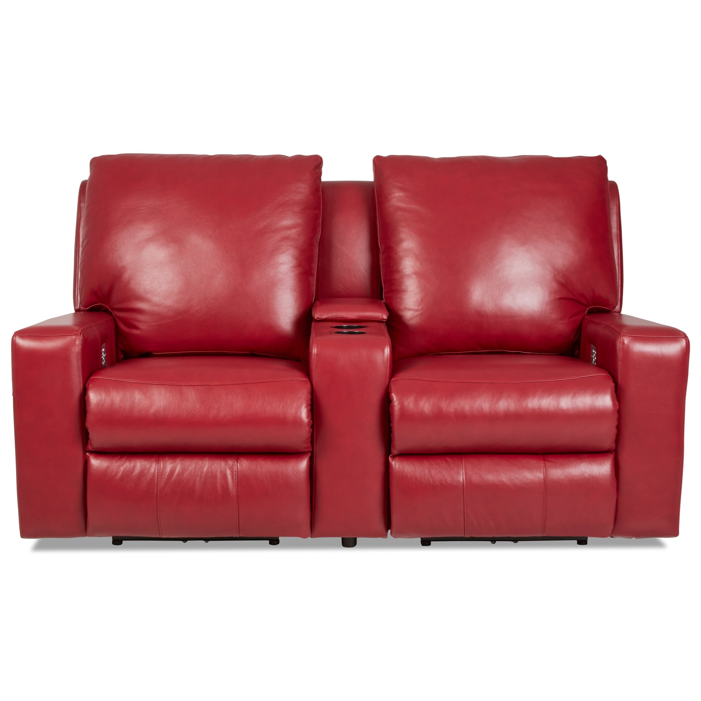 Alliser Pwr Recl Sectional w/ Pwr Headrests & Lumbar by Klaussner at Pilgrim Furniture City