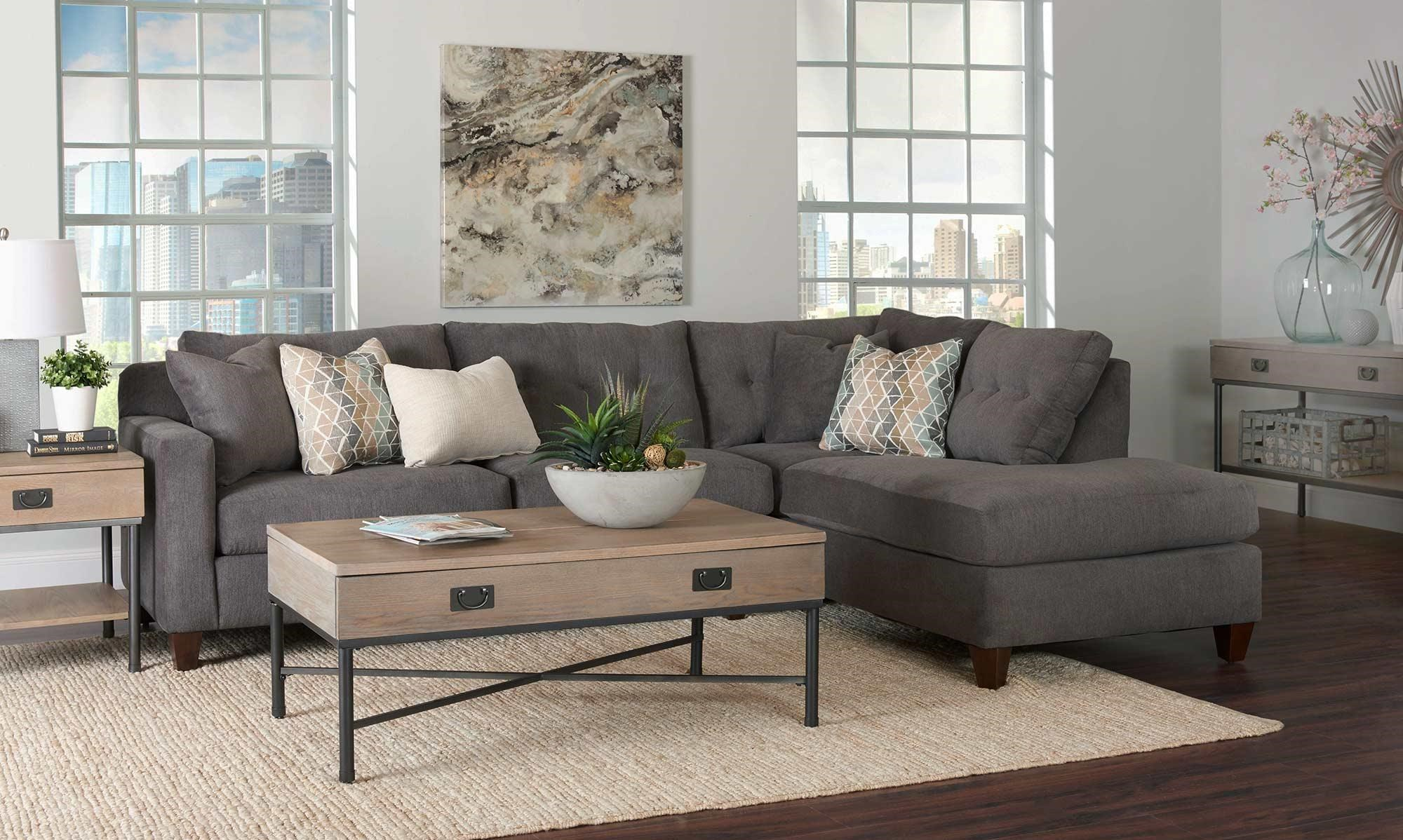 2PC Sectional Sofa w/ Chaise