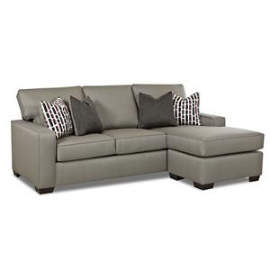 Contemporary Mini Sectional Sofa with Ottoman Chaise