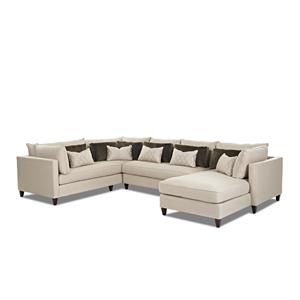 Modern Sofa Sectional with Right Facing Chaise Lounge