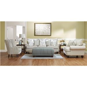 Klaussner Ashworth D95200 Stationary Living Room Group