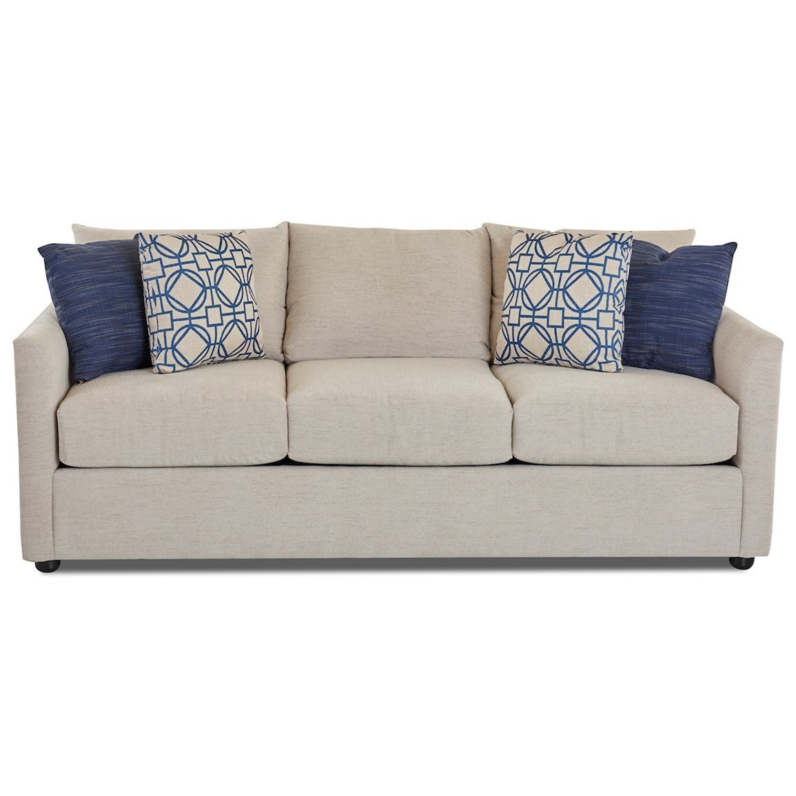 Atlanta Sleeper Sofa w/ AirCoil Mattress by Klaussner at Northeast Factory Direct