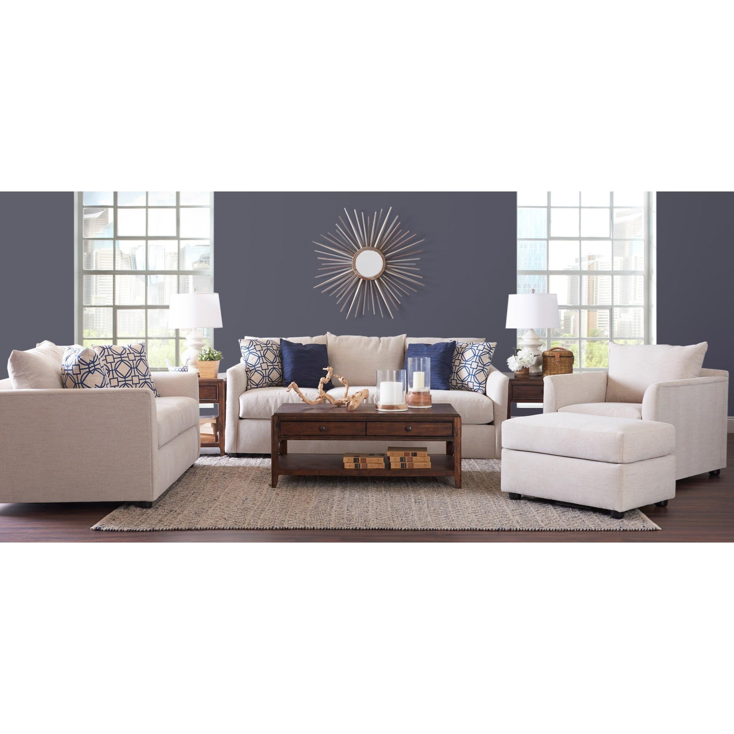 Atlanta Living Room Group by Klaussner at Johnny Janosik