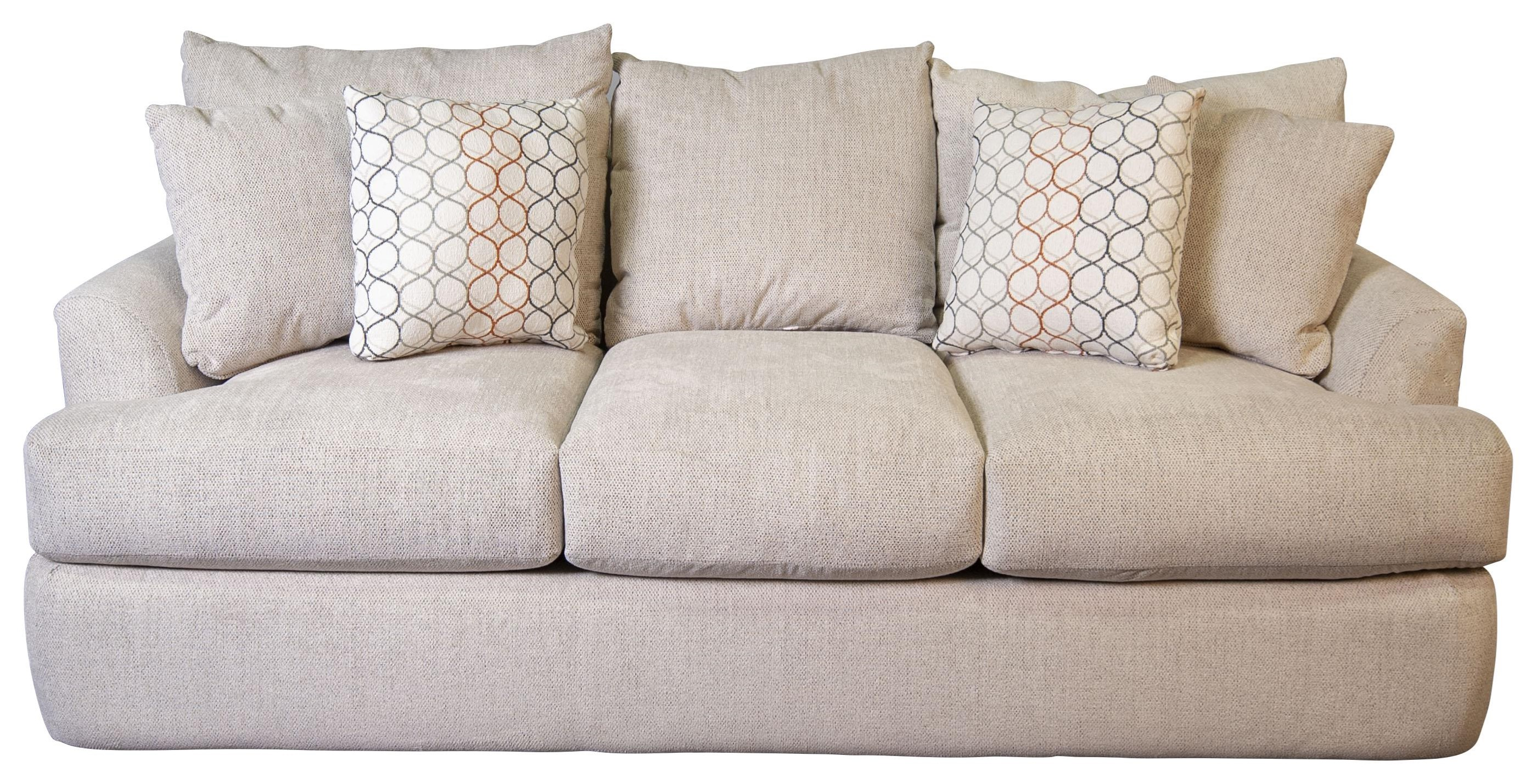 Atticus Atticus Sofa with Accent Pillows by Klaussner at Morris Home
