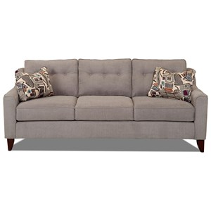 Mid-Century Modern Style Sofa with Tufted Cushions