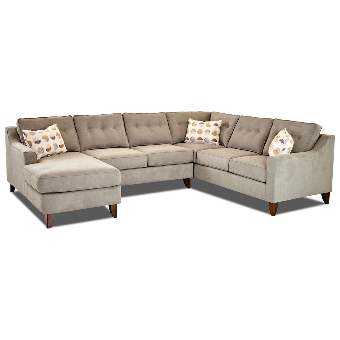 Audrina Contermporary 3 Piece Sectional Sofa by Klaussner at Johnny Janosik
