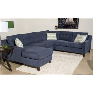 Contemporary 3 Piece Sectional Sofa with Chaise