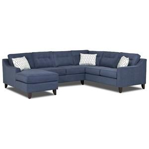 Contermporary 3 Piece Sectional Sofa
