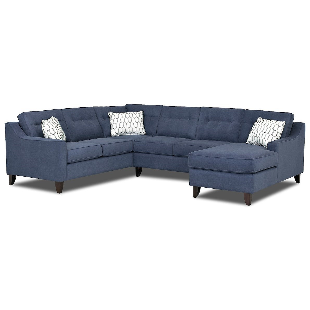 Audrina Contemporary 3 Piece Sectional Sofa by Klaussner at Johnny Janosik
