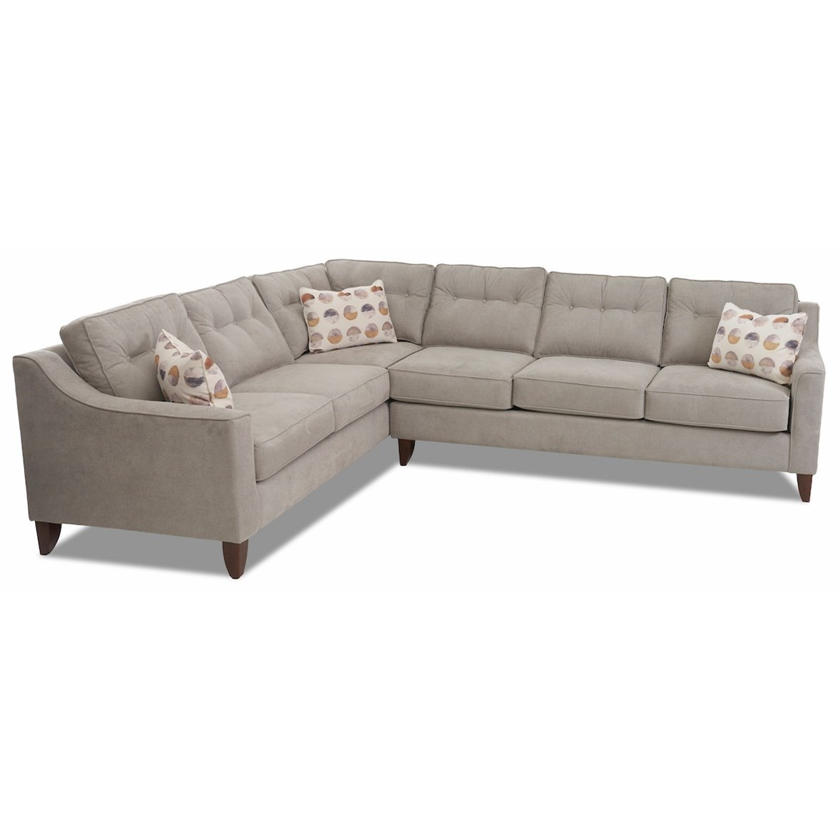 Audrina 2-Piece Sectional Sofa w/ LAF Corner Sofa by Klaussner at Johnny Janosik