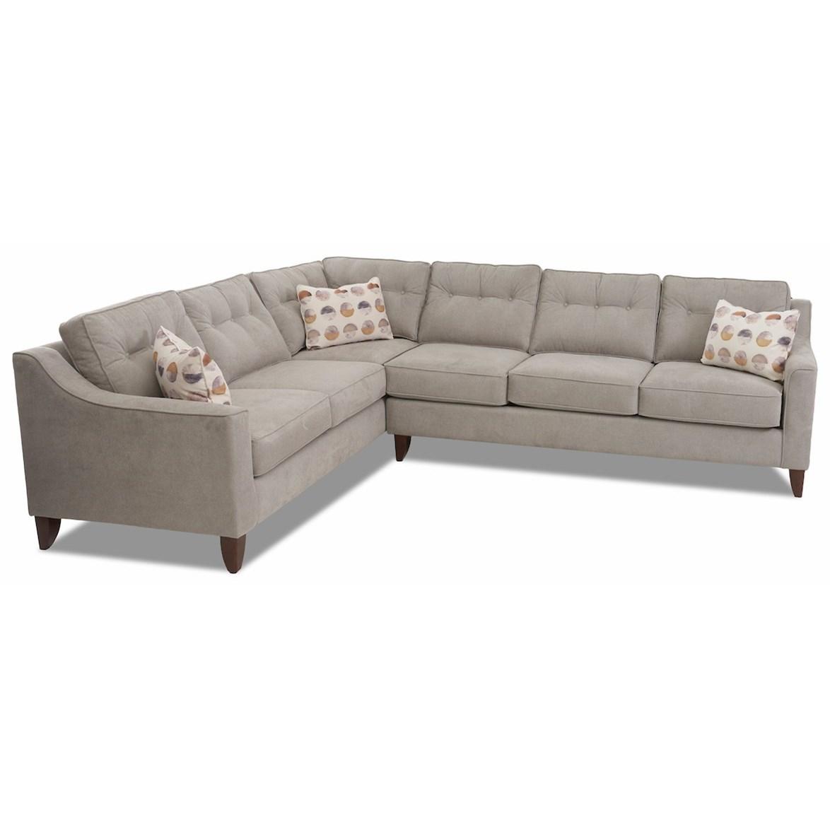 Audrina 2-Piece Sectional Sofa w/ LAF Corner Sofa by Klaussner at Pilgrim Furniture City