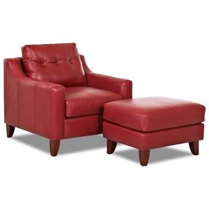 Mid Century Modern Chair & Ottoman Set