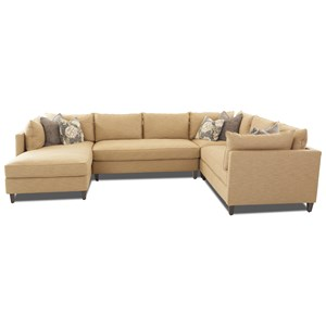 Modular Sectional with Chaise and Down Blend Cushions