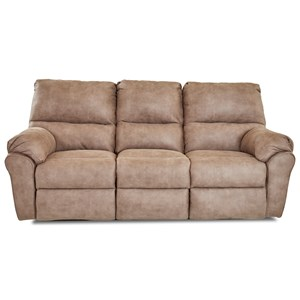 Casual Reclining Sofa with 3 Recliners