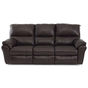 Casual Reclining Sofa with 2 Power Chairs and 1 Manual Chair