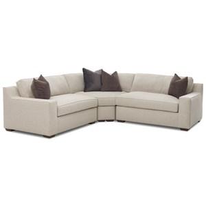 Contemporary Three Piece Corner Sectional Sofa