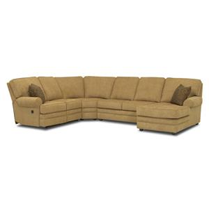 Reclining Sectional with Right-Side Chaise